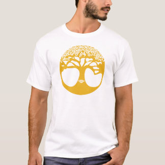 Orange keltischer Baum des Lebens mit keltischem T-Shirt