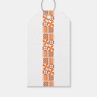 Orange khanga Motiv Geschenkanhänger