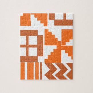 Orange Khanga Motiv Puzzle