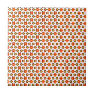 Orange Kitschstern- und -stellenmuster Keramikfliese