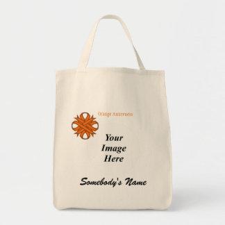 Orange Klee-Band-Schablone Tragetasche