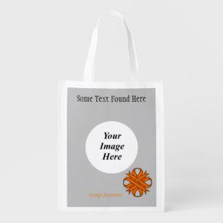 Orange Klee-Band-Schablone Wiederverwendbare Einkaufstasche