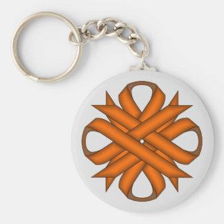 Orange Klee-Band Schlüsselanhänger