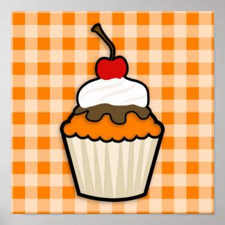Orange kleiner Kuchen Posterdruck