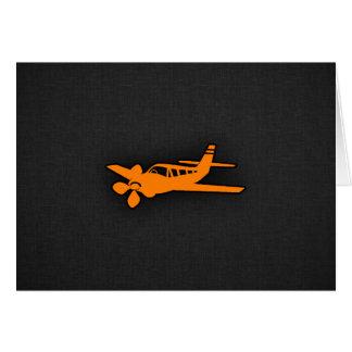 Orange kleines Flugzeug Karte