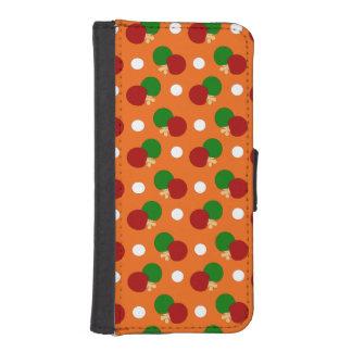 Orange Klingeln pong Muster iPhone 5 Geldbeutel