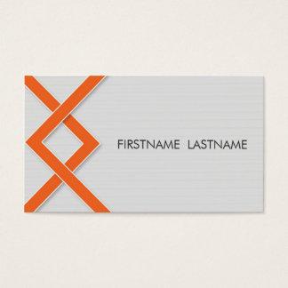 Orange Knoten-persönliche Visitenkarte