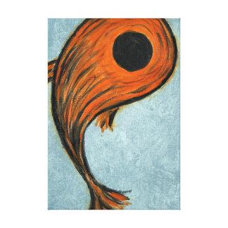orange koi Fische Leinwanddruck