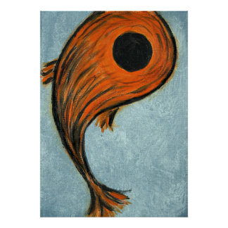 orange koi Fische Poster