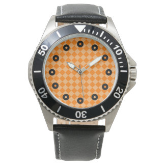 Orange Kombinations-Diamant-Muster durch STaylor Armbanduhr