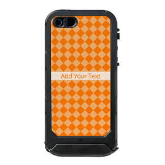 Orange Kombinations-Diamant-Muster durch STaylor Incipio ATLAS ID™ iPhone 5 Hülle