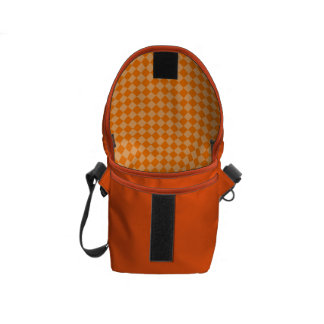 Orange Kombinations-Diamant-Muster durch STaylor Kurier Tasche