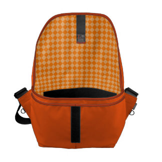 Orange Kombinations-Diamant-Muster durch STaylor Kuriertaschen