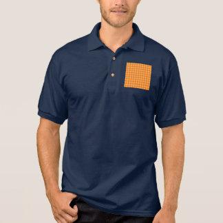 Orange Kombinations-Diamant-Muster Polo Shirt