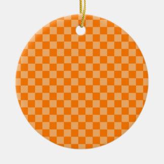 Orange Kombinations-Schachbrett durch Keramik Ornament