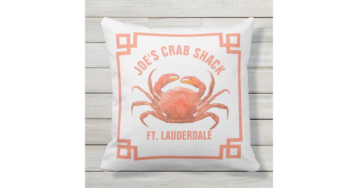 orange krabben aquarell illustration kissen f r drau en. Black Bedroom Furniture Sets. Home Design Ideas