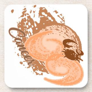Orange Krebs-Horoskop-Krabbe Untersetzer