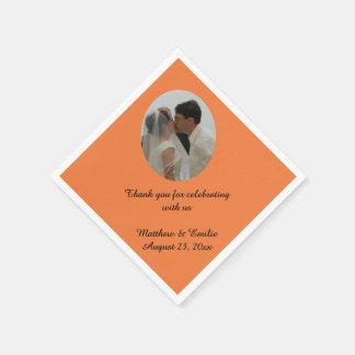 Orange kundenspezifische personalisierte papierserviette