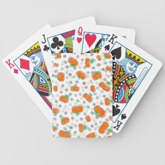 Orange Kürbis-und Tupfen-Aquarell-Skizze Bicycle Spielkarten