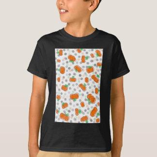 Orange Kürbis-und Tupfen-Aquarell-Skizze T-Shirt