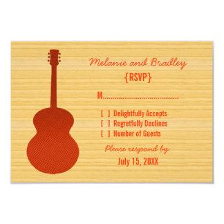 Orange Land-Gitarren-Wartekarte 8,9 X 12,7 Cm Einladungskarte