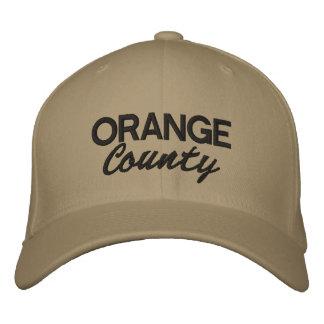 Orange Landkreis gestickte Kappe