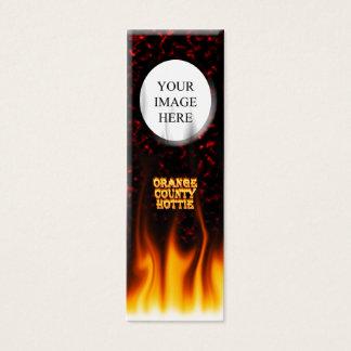 Orange Landkreis hottie Feuer und Flammen Rot Mini Visitenkarte