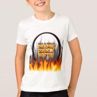 Orange Landkreis hottie Feuer und Flammen Rot T-Shirt