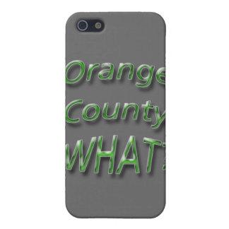 Orange Landkreis WAS? Grün iPhone 5 Cover