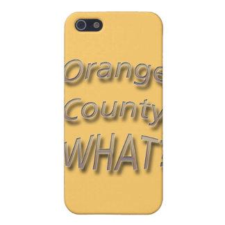 Orange Landkreis WAS? Licht iPhone 5 Schutzhülle