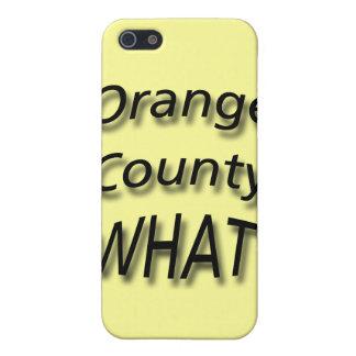 Orange Landkreis WAS? Schwarzes iPhone 5 Cover
