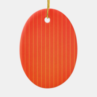 Orange LED-Lampe Ovales Keramik Ornament