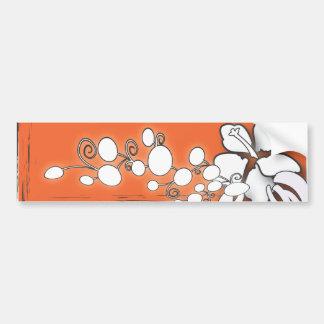 Orange Leidenschafts-Blumen-Hawaii-Strand-Hochzeit Autoaufkleber