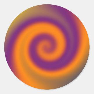 orange Lila des Strudels Runder Aufkleber