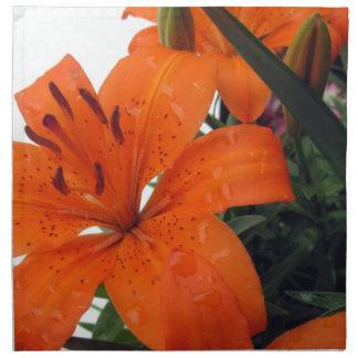 Orange Lilie Serviette