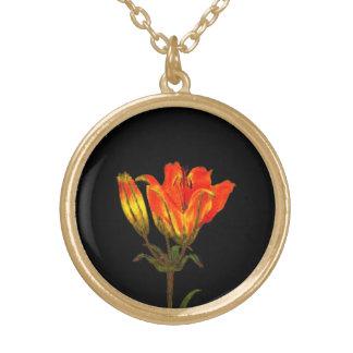 Orange Lilie Vergoldete Kette