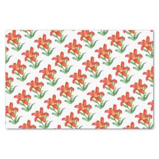 Orange Lilien-botanische Illustration Seidenpapier