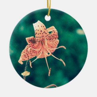 Orange lilly crossprocess4 keramik ornament