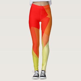 Orange Limones rotes modernes geometrisches Muster Leggings