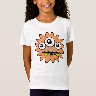 Orange lustige Bakterien des Monsters T-Shirt