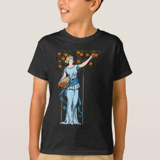 Orange Mädchen T-Shirt