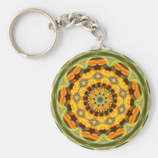 Orange Mandala-Schlüsselkette Schlüsselanhänger