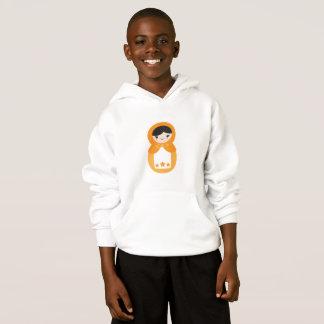 Orange Matryoshka Puppe Hoodie