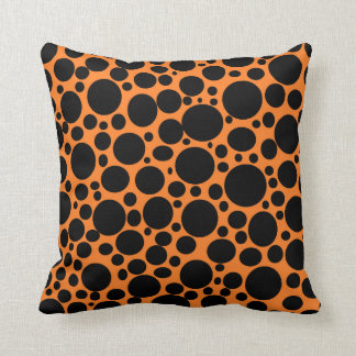 Orange Meer des schwarzen Blasen-Kissens Kissen