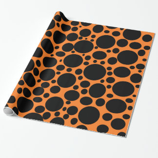 Orange Meer des Schwarzen sprudelt Packpapier