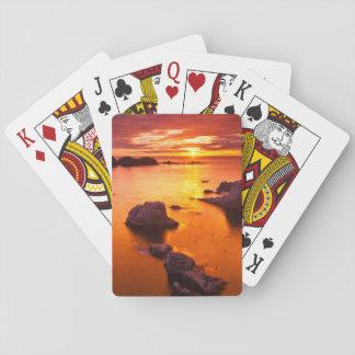 Orange Meerblick, Sonnenuntergang, Kalifornien Spielkarten