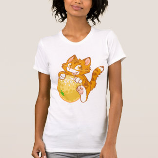 Orange Miezekatze T-Shirt