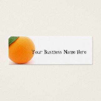 Orange Mini Visitenkarte