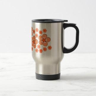 Orange mit Blumenprodukte Edelstahl Thermotasse