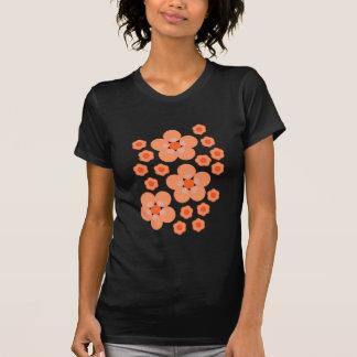 Orange mit Blumenprodukte T-Shirt